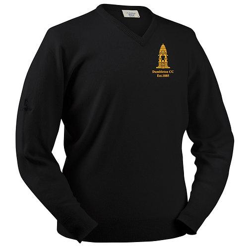 Glenbrae V-Neck Lambswool Sweater - Black - Dumbleton
