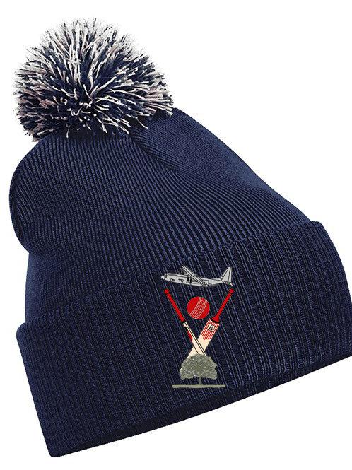 Bobble Hat (B450) Navy - Badsey CC