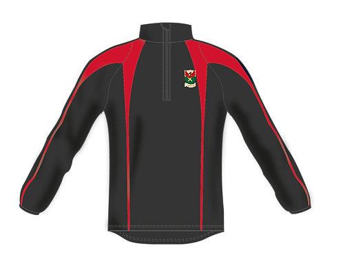 Pro Mid Layer 1/4 Zip   H812 Black/Red Newtown