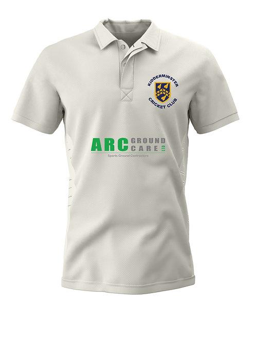 Junior Cricket Shirt S/S (H1) - Cream - Kidderminster CC