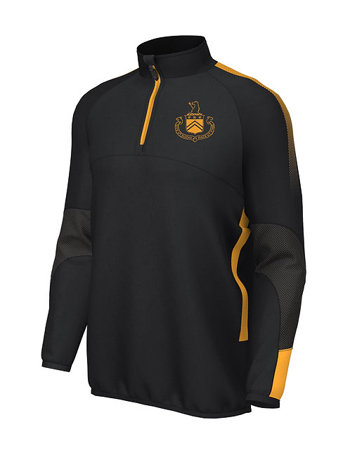 1/4 Zip Mid Layer (E868) Black/Amber - Woodcote House School