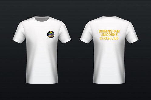 Tec Tee (H787) White - Birmingham Unicorns CC