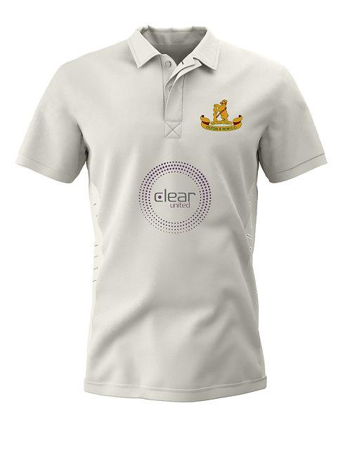 Cricket Shirt S/S (H1) Cream - Olton & WW C C