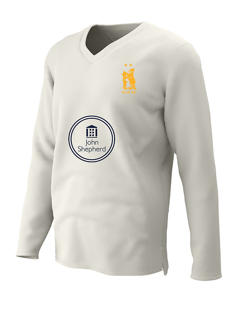 Cricket Sweater L/S (C7) Cream - Knowle & Dorridge
