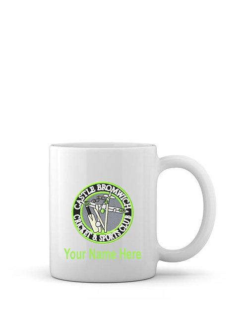 Mug (inc name) White - Castle Bromwich CC