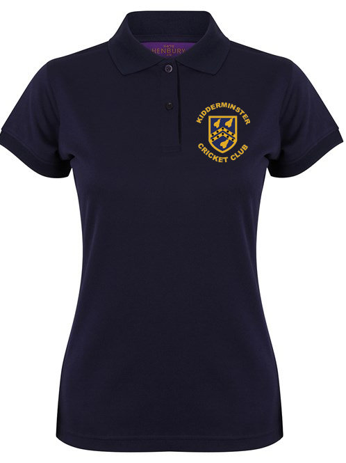 Lady Fit Polo Shirt (HB476) Navy - Kidderminster CC
