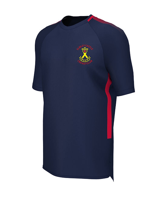 Training Tee (E865) Navy/Red - Elmley Castle