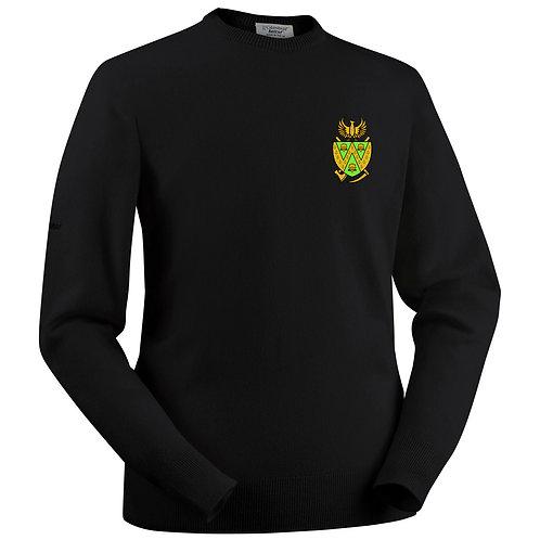 Glenbrae Round Neck Lambswool Sweater - Black - Wem