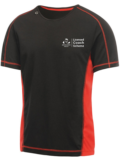 T-Shirt, Men's Black/Red