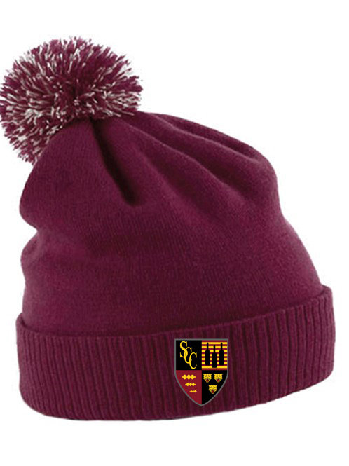 Bobble Hat (B450) Maroon - Shifnal