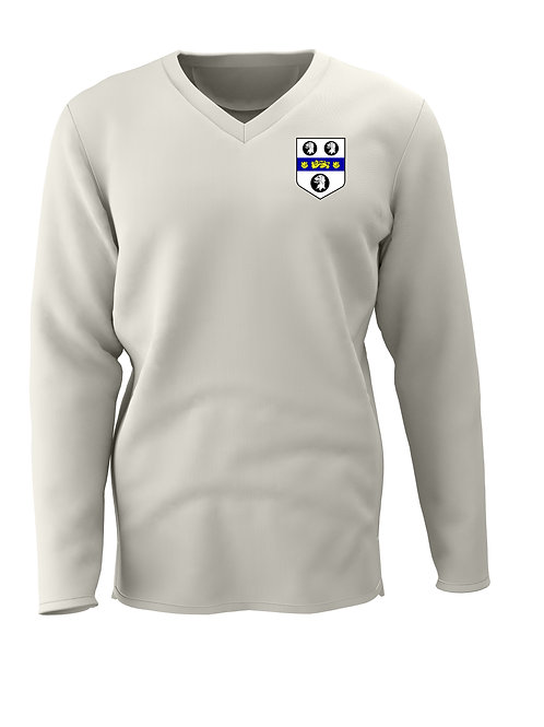 Cricket Sweater L/S (C7) Cream - Old Moseley Arms CC
