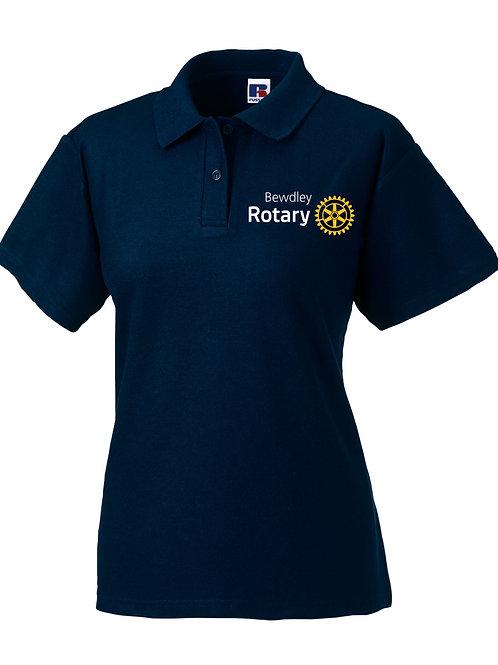 Polo Shirt - Female (539F) Navy Bewdley Rotary