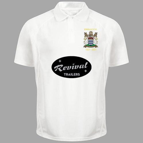 Cricket Shirt (H1) S/S - Cream - Enville CC