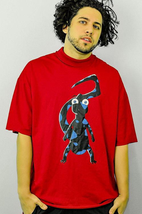 T-shirt VG Salamandra com gola vintage