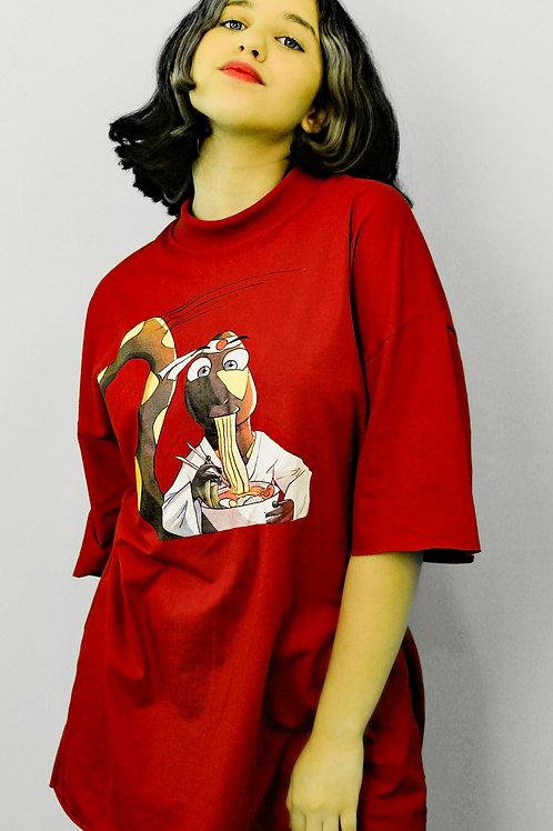 T-shirt VG Lámen com gola vintage