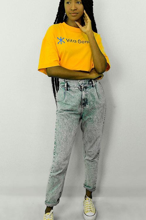 T-shirt VG com gola vintage