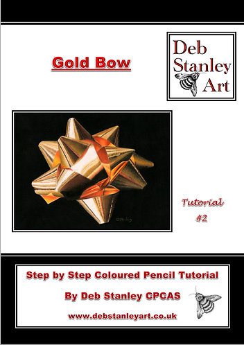 Gold Bow Coloured Pencil Tutorial Booklet