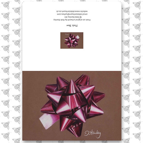 Pink Bow - Greeting Card