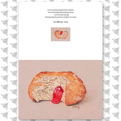 Jam Doughnut - Greeting Card