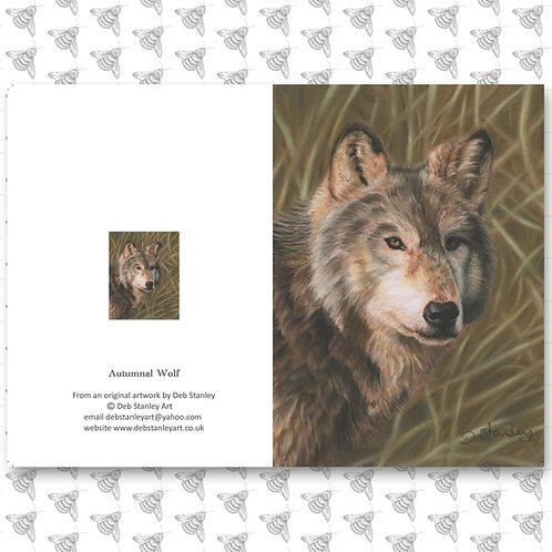 Autumnal Wolf - Greeting Card