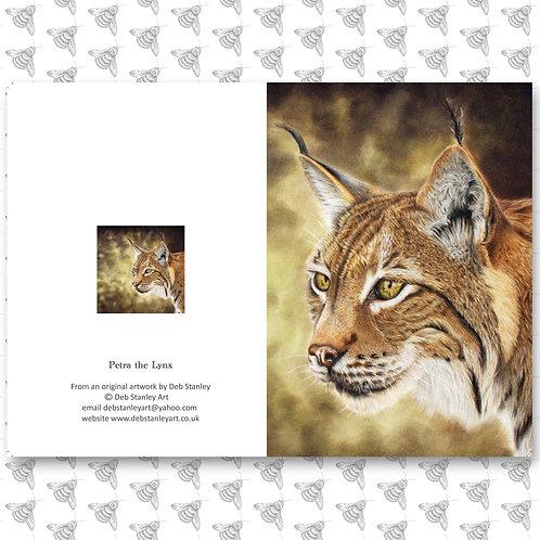 Petra the Lynx - Greeting Card
