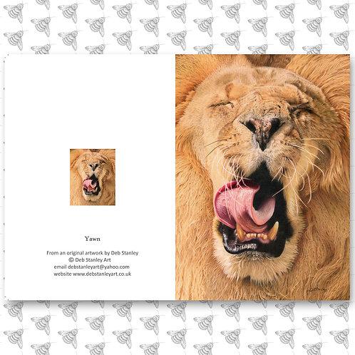 Yawn - Greeting Card