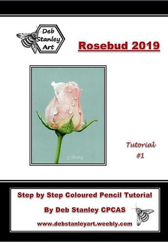 Rosebud 2019 Coloured Pencil Tutorial Booklet