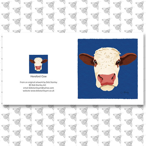 Hereford Cow - Greeting Card