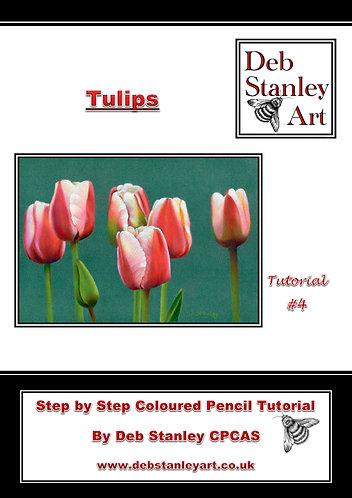 Tulips Coloured Pencil Tutorial Booklet