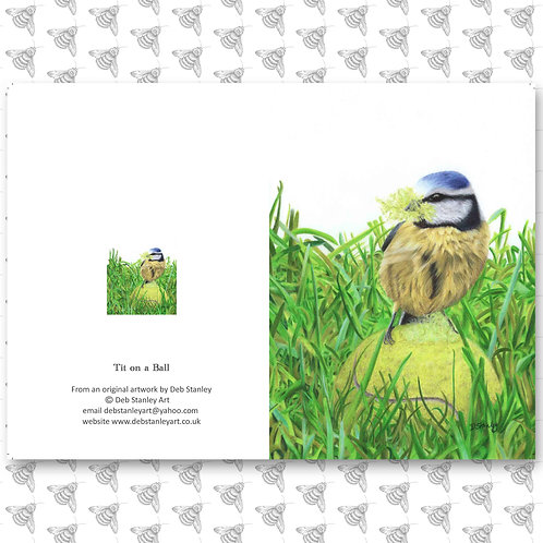 Tit on a Ball - Greeting Card