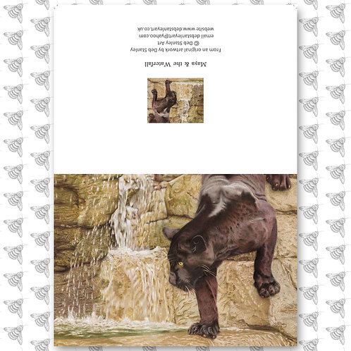 Maya & the Waterfall - Greeting Card