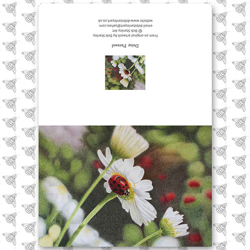 Daisy Parasol - Greeting Card