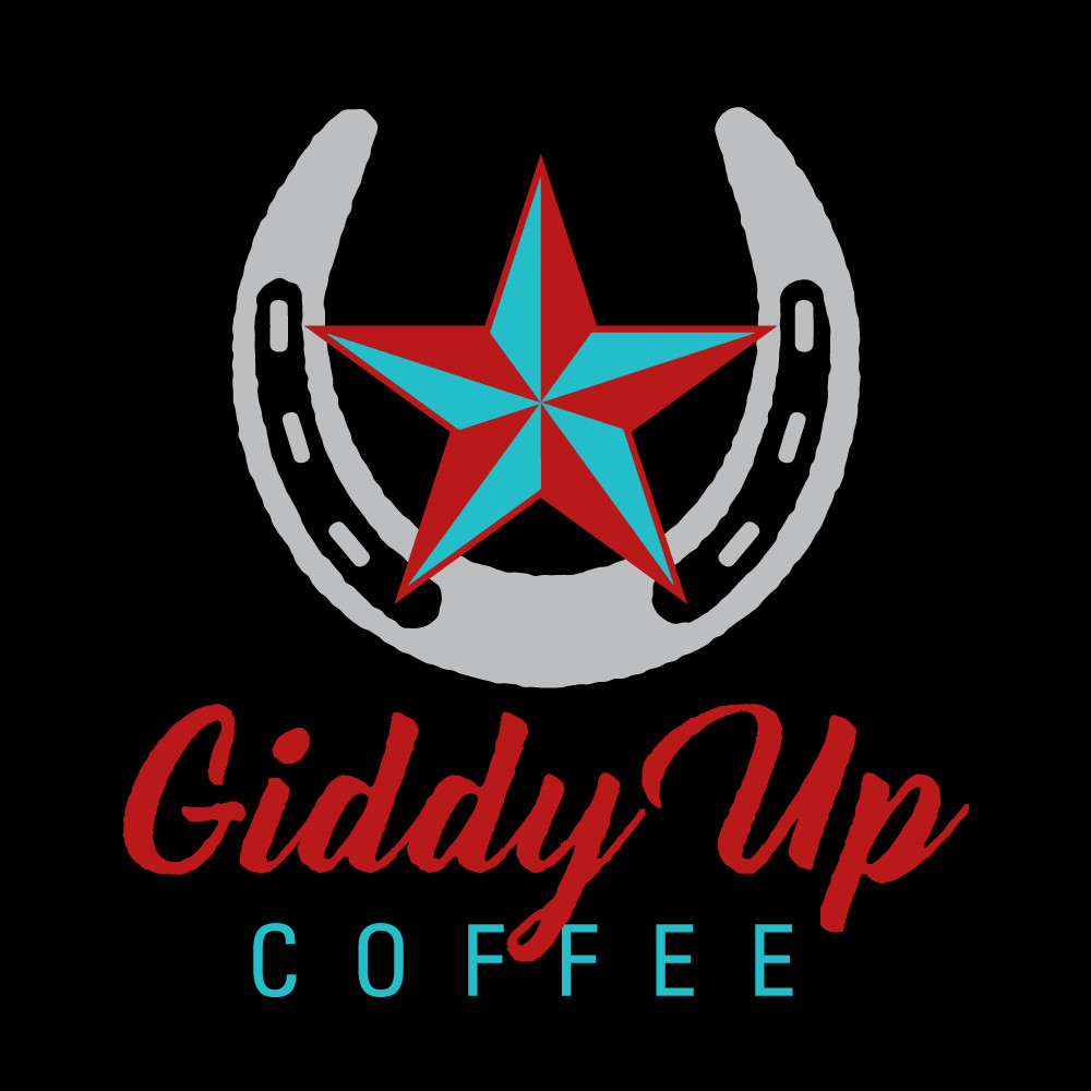 Giddy Up Coffee Logo on black