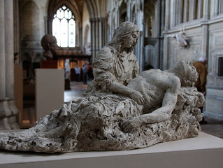The Pietà for a Fallen Soldier in Winchester Cathedral