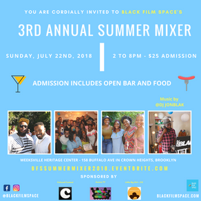 Join AURORE TV at Black Film Space's Summer Mixer!