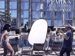 Editorial shooting with Florence Jacquinot for Femina Magazine
