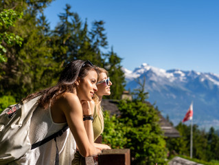 Shooting for the tourist office at Haute-Nendaz