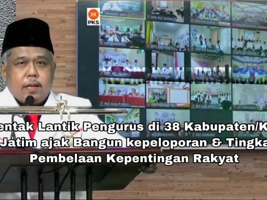Secara serentak, DPW PKS Jatim Lantik Kepengurusan di 38 Kota / Kabupatan