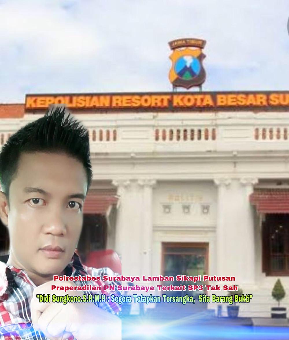 Markas Kepolisian Polrestabes Surabaya adalah milik negara notabene milik rakyat,bukan milik segelintir oknum oknum berduit yang bisa memutar balikkan fakta hukum,merekayasa pasal pasal dan tempat oknum polisi yang berwajah sangar, tapi markas polrestabes surabaya adalah tempat polisi yang selalu ramah kepada masyarakat, selalu mengayomi dan melindungi bagi masyarakat yang mencari keadilan , dan asas kepastian hukum, masyarakat banyak berharap,