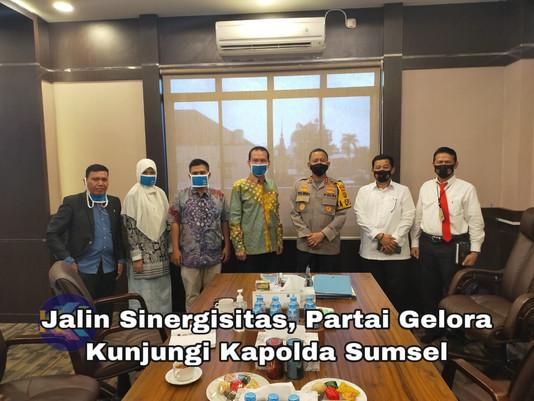 Jalin Sinergisitas, Partai Gelora  Kunjungi Kapolda Sumsel