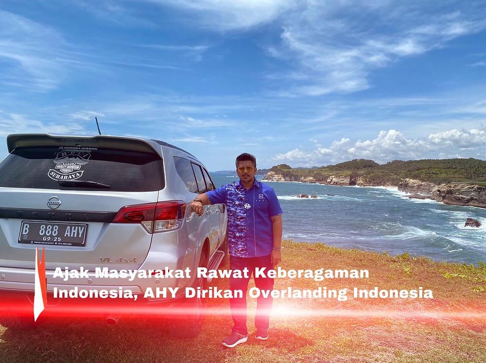 Agus Harimurti Yudhoyono (AHY) sebagai pendiri dan pembina AHY Foundation, tergerak untuk mendirikan komunitas Overlanding Indonesia. (FOTO: Adm)