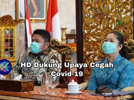 HD Dukung Upaya Cegah Covid-19