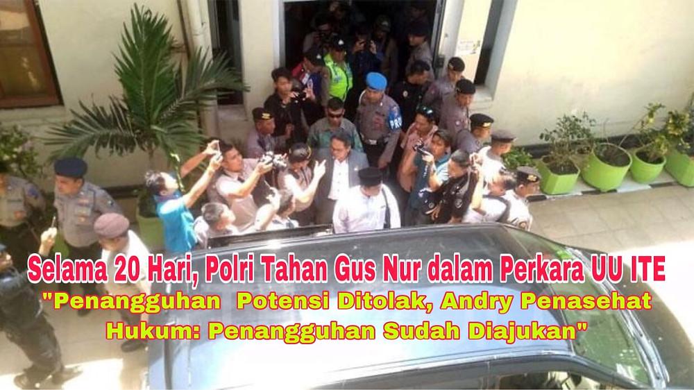 Badan Reserse Kriminal Polri resmi menahan Sugi Nur Raharja atau akrab disapa Gus Nur (Foto: Repro)