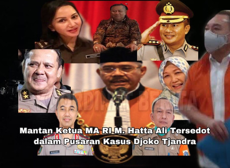 Catut Nama Mantan Ketua MA RI M. Hatta Ali Tersedot dalam Pusaran Kasus Djoko Tjandra