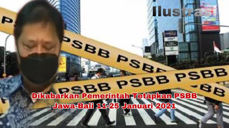 Dikabarkan Pemerintah Tetapkan PSBB Jawa-Bali 11-25 Januari 2021