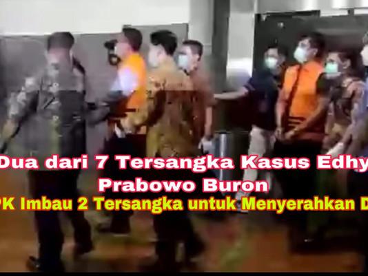 Dua dari 7 Tersangka Kasus Edhy Prabowo Buron