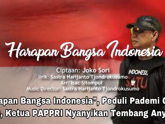 """""""Harapan Bangsa Indonesia"""", Peduli Pademi Covid 19, Ketua PAPPRI Nyanyikan Tembang Anyar"""