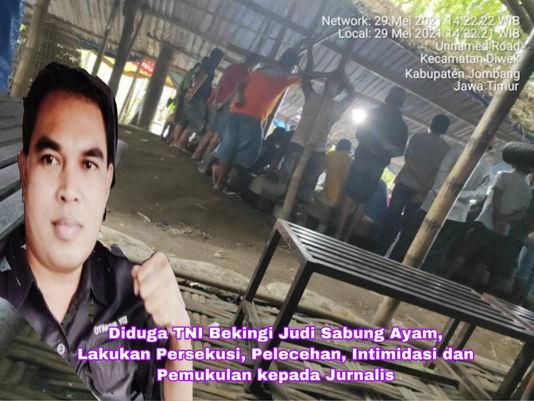 Oknum TNI Bekingi Judi Ayam, Lakukan Persekusi, Intimidasi, Pemukulan ke Wartawan & Perwira TNI AL