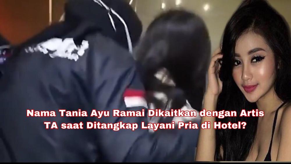 TA pun digiring bersama muncikarinya ke gedung Direktorat Reserse Kriminal Khusus Polda Jabar.(Foto: Repro Video Viva)
