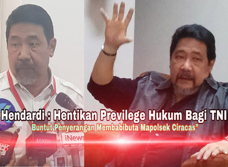 Hendardi : Hentikan Previlege Hukum Bagi TNI